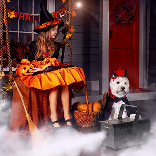 Fog Machine, Theefun 400W Smoke Machine with 2000CFM Fog, Wired and Wirelss Remote Control Fog Machine for Halloween Wedding Party and Stage Effect