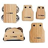 Clapbox CB-ATTACH Cajon Attachments - Rubber Wood, Set of 5 Attachments (Jingle Pack)