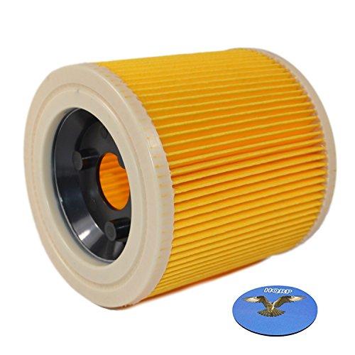 HQRP Filtro de Cartucho para Kärcher SE 4000 Serie SE 4001 / SE 4001 Plus/SE 4002 / SE4001 / SE4002 / SE4001+ Aspiradoras en seco y húmedo, 64145520 Reemplazo Posavasos