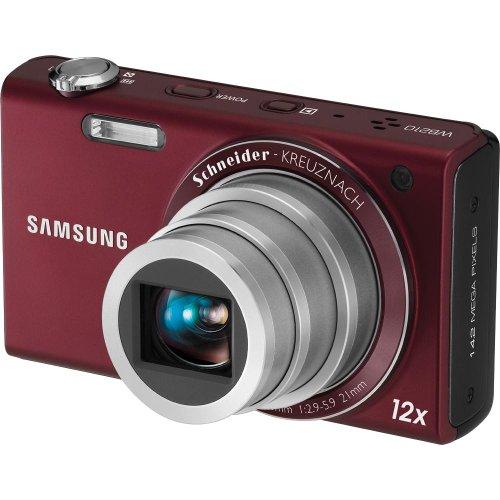 Samsung WB210 14 MP Digital Camera (Burgundy)