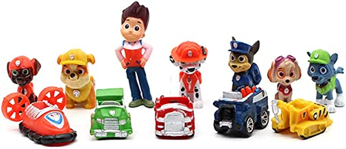 LEBERY Paw Dogs Patrol Cake Topper 12pcs, Paw Patrol Birthday Cake Topper Cupcake Topper, Paw Patrol Mini Action Figure To...