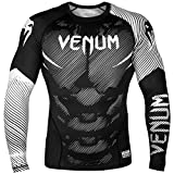 Venum Nogi 2.0 Rashguard - Long Sleeves - Black/White-S, White, Small