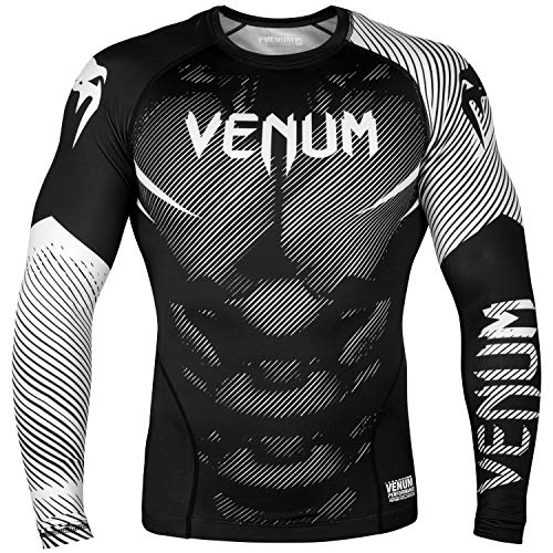 Venum NoGi 2.0 Rashguard - Manches Longues Homme, Noir/Blanc, FR : 2XL (Taille Fabricant : XXL)