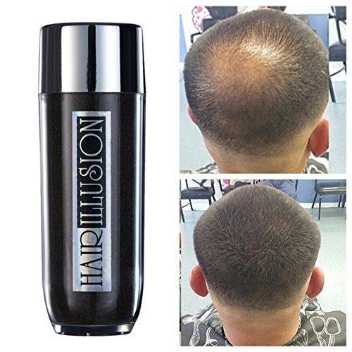 Hair Illusion Human Hair Fibers Not Synthetic, Dark Brown