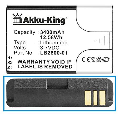 Akku-King Akku kompatibel mit 4G Systems XSBox GO+ - ersetzt LB2600-01 Li-Ion 3400mAh