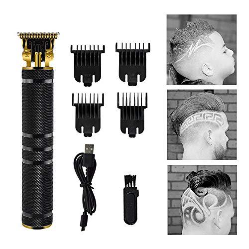 EKUPUZ Haarschneidemaschine, USB Profi Friseur Haarschneider Herren Haarschneider Detailer Cordless Elektrischer Haartrimmer Präzisionstrimmer Männer Intim Haarschneideset
