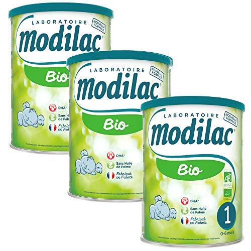Laboratoire Modilac - Lait Infantile en Poudre Bio 1er âge - 0-6 mois - 800g - Lot de 3