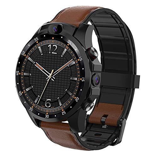 TIANYOU V9 Smart Watch, 4G Volles Netcom Dual-Kamera 1,6-Zoll-Quad-Core-Smartwatch, Mit Puls-Sport-Bluetooth Pedometer Smartwatch, Für Männer Frauen täglicher Verschleiß/Brown 3 +