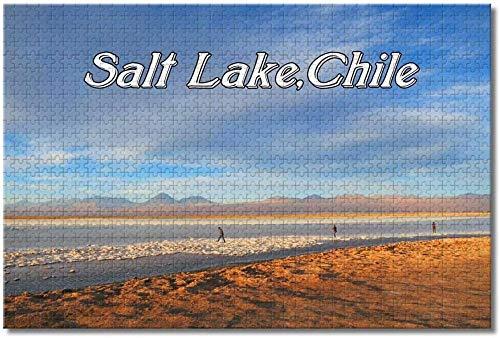 Nicoole.co Salt Lake Atacama Chile Rompecabezas para adultos Niños 1000 piezas Juego de rompecabezas de madera para regalos Decoración del hogar Recuerdos especiales de viaje