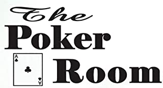 BooDecal Wall Poster The Poker Room Vinyl Decal Play Room Chess Room Words Letters Sayings Hand Made Wall Art Decor Stickers for Home Personalized DIY Casino Playing Card Coffee Store