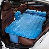 AH Tragbare Auto Luftbett Matratze Luftmatratze Camping Beflockung Aufblasbares Bett Mit 2 Luftkissen Für Schlaf, Erholung, Reisen Und Camping Für Universal-SUV, Auto Und MPV,Blue