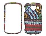 Aztec Tribal Design Rubberized Cover Case for Samsung Brightside U380