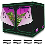 Quictent 8x8x6.5 ft Grow Tent 96'x96'x78' Mylar Hydroponic Plant Growing Tents with Observation Window and Removable Floor Tray for Indoor Plant Growing