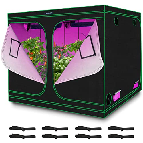 Quictent 8x8x6.5 ft Grow Tent 96'x96'x78' Mylar Hydroponic Plant Growing Tents with Observation...