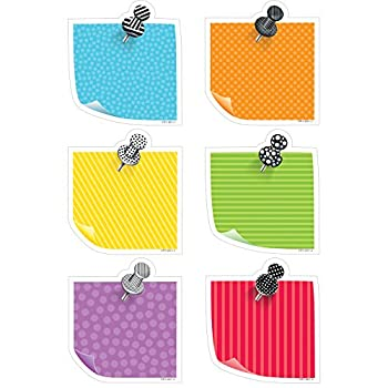 Creative Teaching Press Bold & Bright Sticky Notes Cut Outs 6   5800