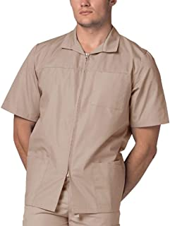Adar Universal Men's Zippered Short Sleeve Jacket (Available in 7 solid colors)