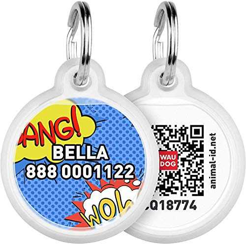 Personalized Pet ID Tag for Dog Cat with QR Passport Global Search System of Lost Pets - Personalized Dog Tags Cat Name Tags - Wow