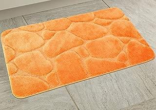 BH Home & Linen 1 Piece Ultra Plush River Rock Design Bath Rug Set. 24