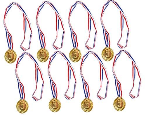 jameitop® 8 X Goldmedaille / Sieger Medaille für Sport / Kindergeburtstag