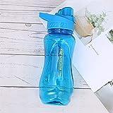 Mosako - Botella de agua deportiva de plástico, reutilizable, sin BPA, antifugas, para niños y adultos, apta para senderismo, 550 ml, color azul