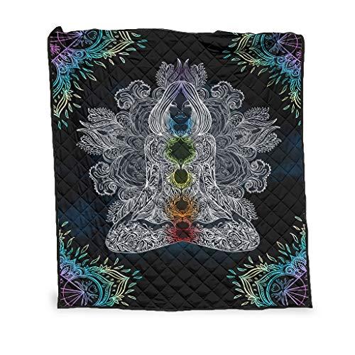 Flowerhome Buddha Chakra Tagesdecke für Bett oder...