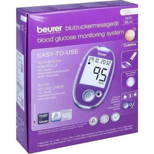 BEURER GL44 Blutzuckermessgerät mg/dl lila 1 St