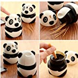 Gamloious Palillo de Dientes Cuadro Titular, dispensador automático Barril de casa Decoración Panda en Forma de Moda