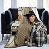 Chandler Riggs Carl Grimes Soft and Comfortable Warm Fleece Blanket for Sofa, Bed, Office Knee pad,Bed car Camp Couch Cozy Plush Throw Blankets