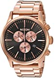 Nixon Men's 'Sentry Chrono' Quartz Metal and Stainless Steel Watch, Color:Rose Gold-Toned (Model: A3861932-00)