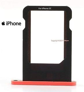 Soporte para tarjeta SIM para iPhone 5C, color rosa