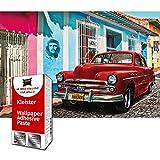 GREAT ART Papel Pintado Fotos Decoraciones de Pared Coche Viejo - Havana Cuba Póster Autos Cubanos 210 x 140 cm - Papel tapiz 5 piezas incluye pasta
