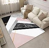 HJYL Tapis Nordique Moderne Géométrique Creative Design Chambre Salon Canapé Table...