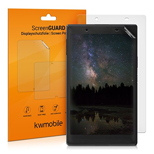 kwmobile 2X Folie kompatibel mit Lenovo Tab 4 8 Plus - Full Screen Tablet Schutzfolie entspiegelt