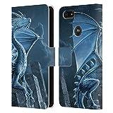 Head Case Designs sous Licence Officielle Vincent HIE Argent Dragons 2 Coque en Cuir à Portefeuille...
