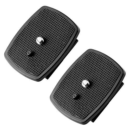 Erduoduo 2 Pack QR Plate(43x43mm) Quick Release Plate Replacement for Velbon tripods CX-460 CX-460mini CX-444 CX-888 CX-470 CX-570 CX-690 DF-50