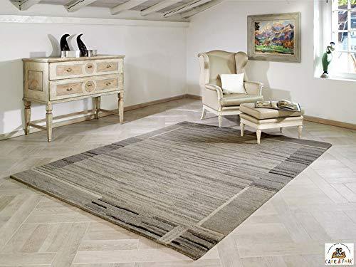 Steffensmeier Nepal Teppich Salma   Wolle (Schurwolle), Grau, Größe: 250x350 cm, Wollteppich für...