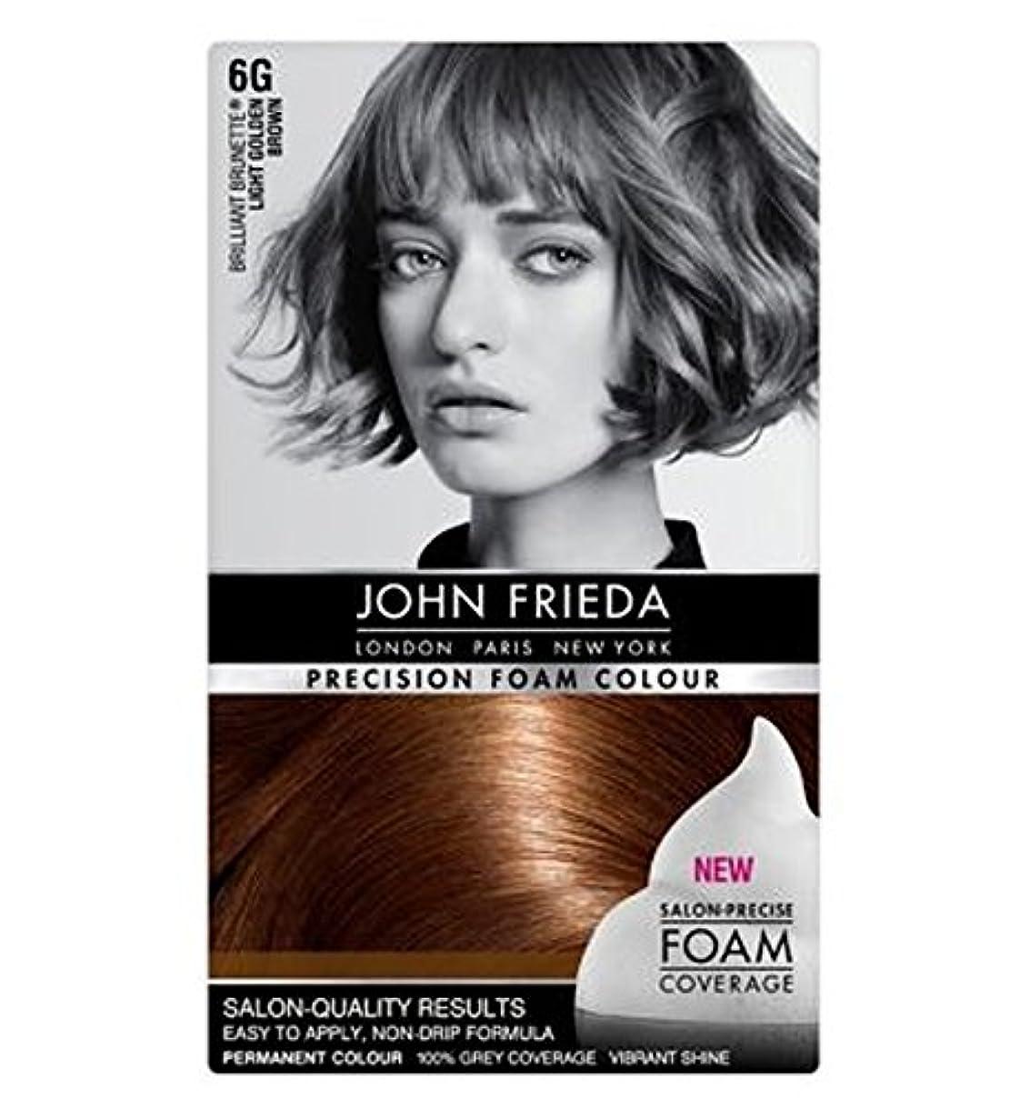 松面白い抜け目のないジョン?フリーダ精密泡カラー6グラムライトゴールデンブラウン (John Frieda) (x2) - John Frieda Precision Foam Colour 6G Light Golden Brown (Pack of 2) [並行輸入品]