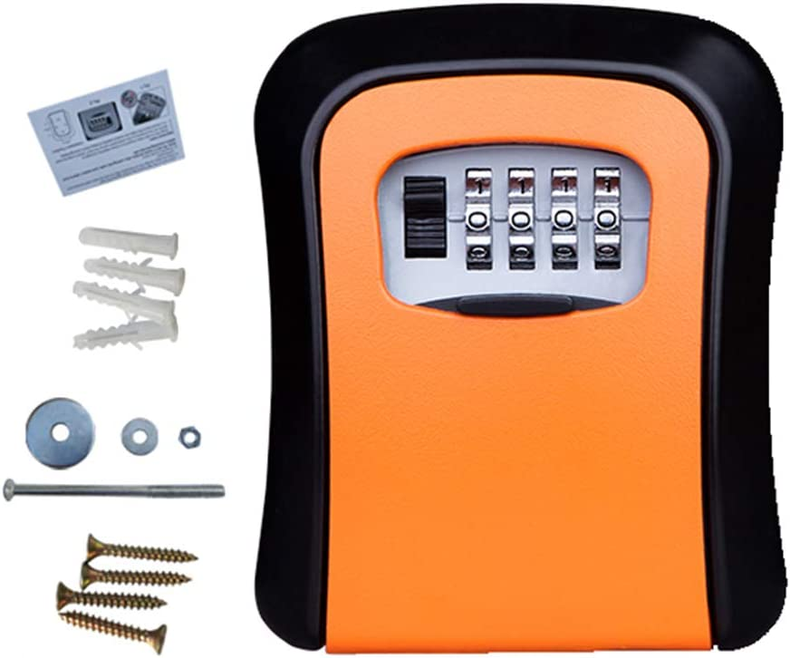 Xb Key Safe Cheap National products mail order specialty store Weatherproof Wall Lock Mounted Lockbox Rese Box