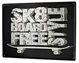 Tin Sign Metal Sign Plate Decorative Plaques Sports Skateboard for Garage Man Cave Beer Cafe Bar Pub Club Home Decor 8