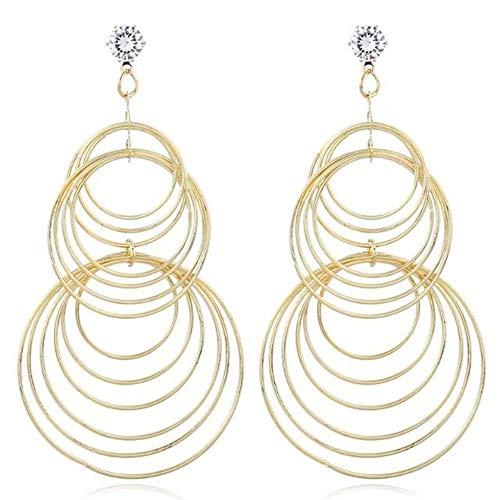 Idolyu Fashion Gold Color Pendientes F Uuml R Mujer Mujer Larga Cuelga Earin Pendientes Mujer