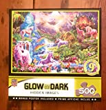 MasterPieces Hidden Images Glow - Unicorns Retreat 500-Piece Jigsaw Puzzle