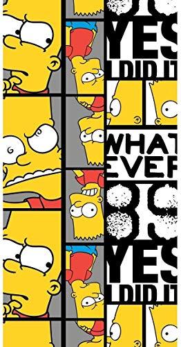 Simpsons - Toalla de playa (140 x 70 cm), diseño de Bart Faces