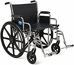 Medline MDS806900 Excel Extra-Wide Bariatric Wheelchair, 24