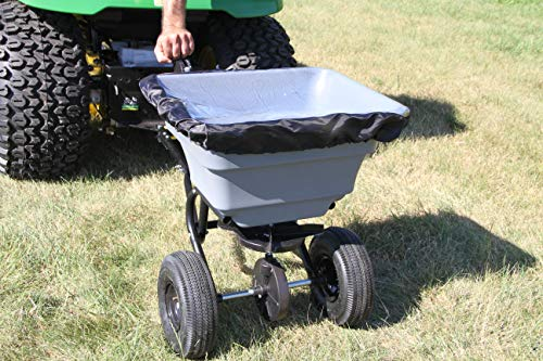 Precision Products TBS4000PRCGY Tow Behind Broadcast Spreader, 75 lb, Dark Grey