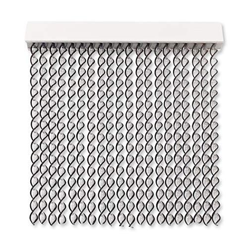 Cortinas Exterior Puerta de Cordon | 72 Tiras Plastico PVC y Barra Aluminio | Ideal para Terraza y...