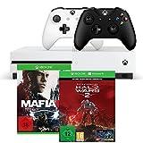 Xbox One S 1TB Konsolen-Bundle inkl. Halo Wars 2:Ultimate Edition + Mafia III + Xbox Wireless Controller (schwarz)