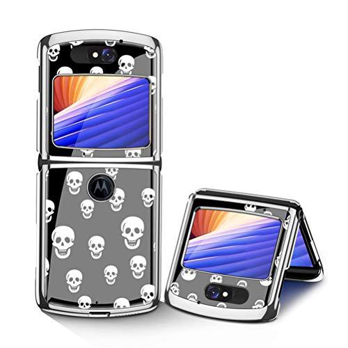 MingMing Hülle für Motorola Razr 5G Hardcase Stoßfest Schutzhülle PC Gehärtete Glasabdeckung, Superdünne handyhülle für Motorola Razr 5G, 002