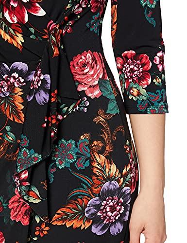 Gina Bacconi Women's Floral Wrap Dress Vestito da Cocktail, Multi, 46 Donna