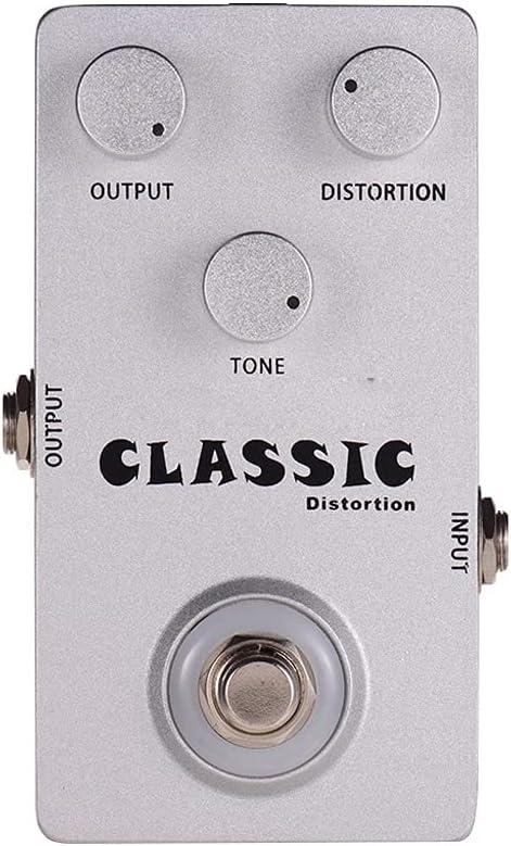 JJSPP C-DI01 Pedal de Efectos de la Guitarra de distorsión clásica DIRIGIÓ Circuito analógico Ligero Efecto de distorsión Pedales de aleación de Aluminio