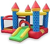 Vivid Castillo Hinchable Niños Cubiertos Castillo Infantil Niños Inflable Bounce House Trampoline Slide Jumper House con la Pared de la Pared Splash Pool para la Fiesta al Aire Libre